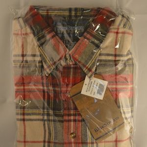 Flannel Style Long Sleeve Button Up